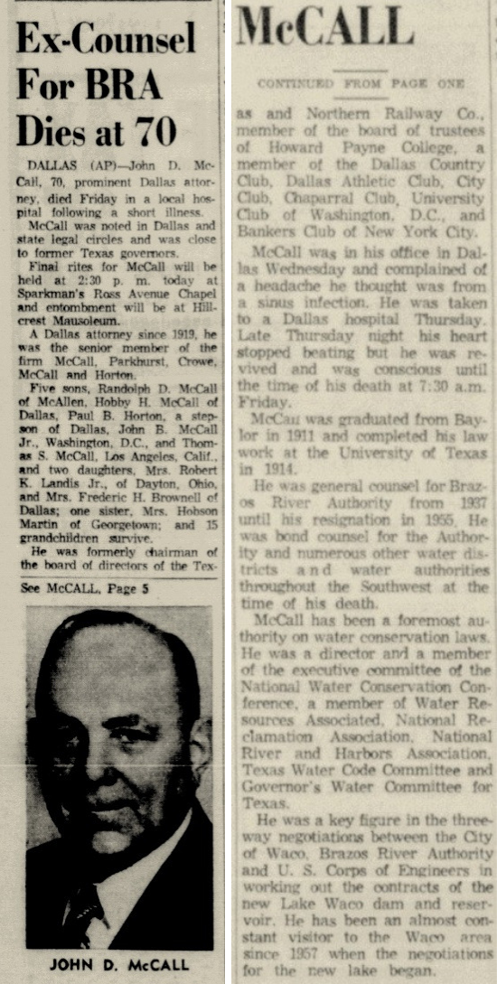 Waco Tribune, John D. McCall